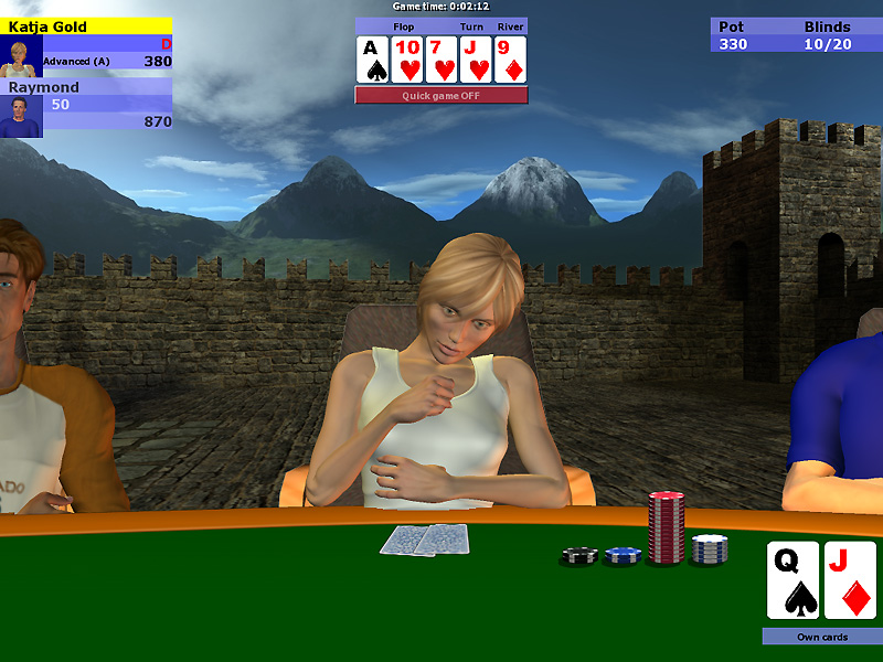 CrimsonRain.Com Poker Simulator: No Limit Texas Hold'Em 撲克模擬:無限額德州撲克